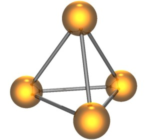 the tetrahedral form of white phosphorous