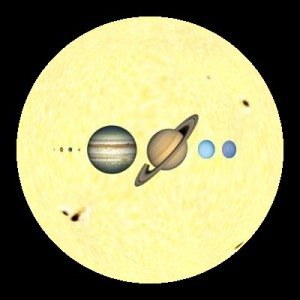 The planets, to scale. (NOAA)