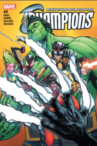 Champions #4 by Mark Waid and Humberto Ramos