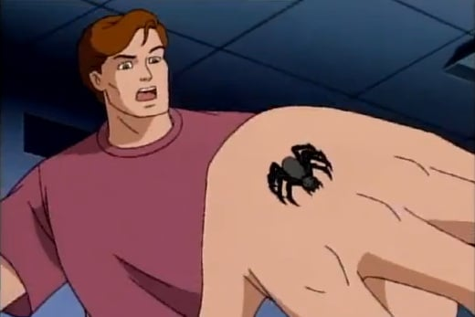Resultado de imagem para spider man bitten